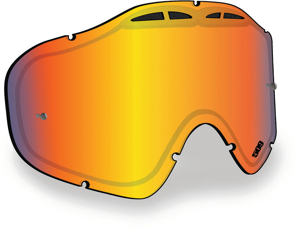509 Sinister X5 Replacement Goggle Lens With Tearoff Posts - Fire Mirror with Clear Tint