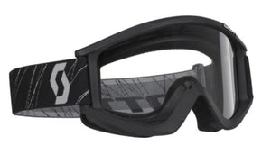 Scott Recoil Motocross Goggles - Black Frame with Clear Lens