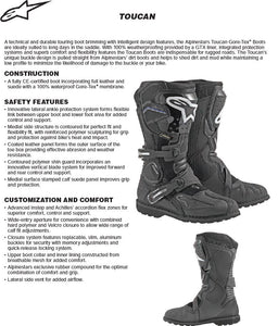 Alpinestar Toucan GoreTex Motorcycle Snow Bike Boots Description