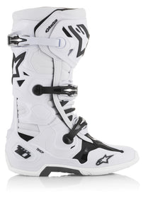 Alpinestar Tech 10 Boots, White, Side View
