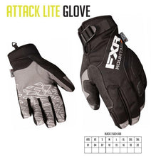 FXR Attack Lite Snowmobile Gloves Description