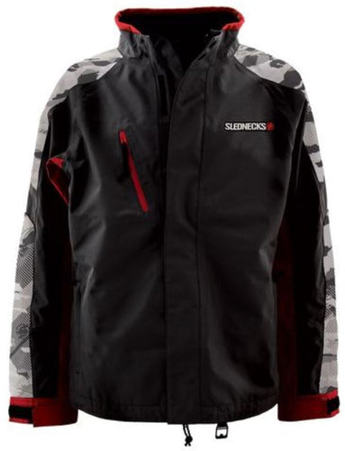 Slednecks Free Ride Jacket, Snow Camo,  Black, Charcoal and Red, 2XL, XXL