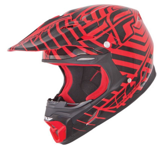Fly Racing Three.4 Sonar Helmet, Red & Black, XXL, 2XL