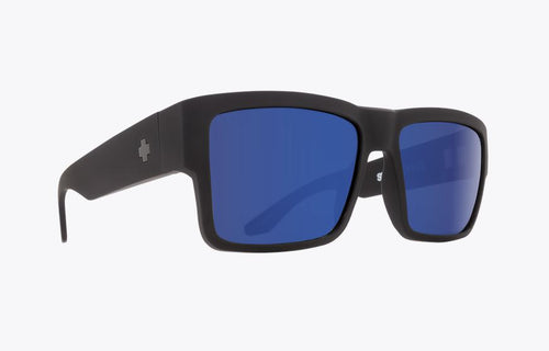 Spy Cyrus Sunglasses, Soft Matte Black W Happy Bronze Blue Spectra Lens
