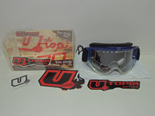 Utopia 'Too Dirty' Motocross Goggles - Blue Fade with Black Strap and Clear Lens