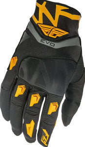 Fly Racing Evolution Gloves, Black And Orange, Large, 10