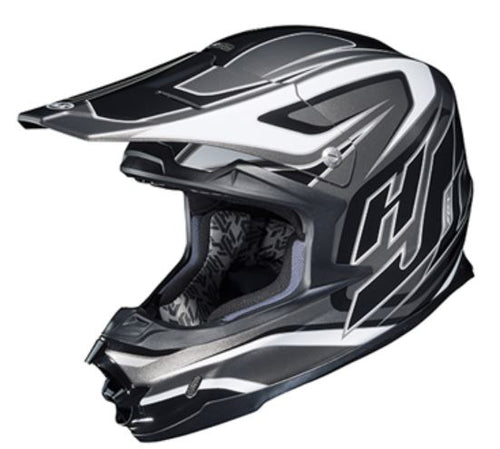 HJC FG-X Hammer Motorcycle Helmet, Black and Gray, Large, Lg