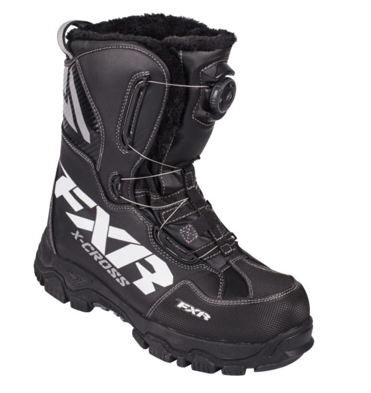 FXR X Cross Boa Snowmobile Boots, Black, Men's Size 10 Boot