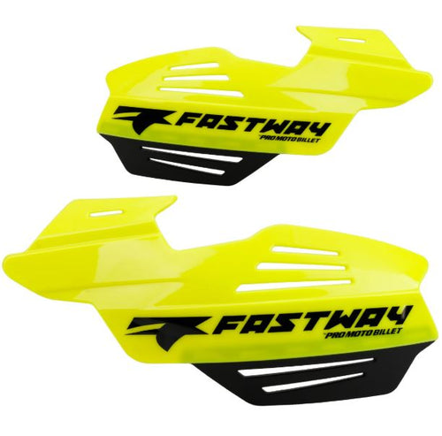 Fastway Flak Shield Handguard System for Motorcyces and ATV's, Flo Yellow