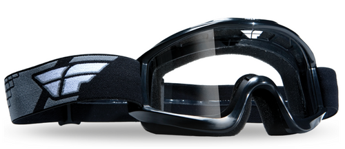 Fly Focus Adult Motocross Goggles – Black With Clear Lens