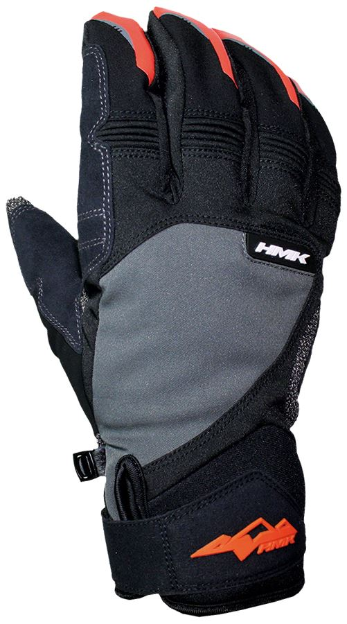 HMK Union Gloves for Snowmobiles and Snow bikes - Gray, Grey, 3XL