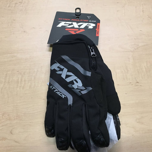 FXR Mountain - Attack Insulated Snow Bike and Snowmobile Gloves – Black, Large, LG