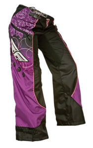 FLY RACING KINETIC LADIES OVER BOOT MOTORCYCLE PANT BLACK / PURPLE / PINK
