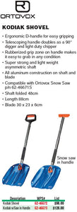 Ortovox Kodiak Snow Shovel For Backcountry Snowmobiling and Snow Biking