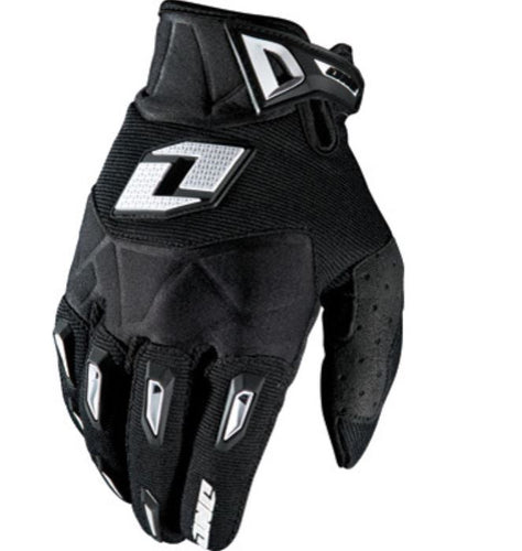ONE INDUSTRIES MOTOCROSS OR DIRT BIKE GLOVES, BLACK, LARGE, LG, L, 10