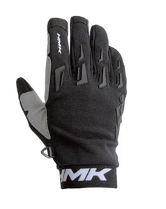 HMK Pro Gloves for Snowmobiles and Snow bikes - Black, Small