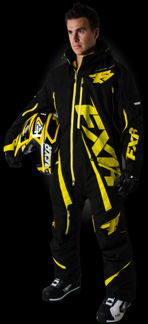 FXR Ranger Monosuit, Men's, XL- Black And Yellow