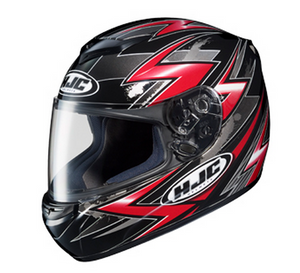 HJC CS-R2 Shock MC5 Motorcycle Helmet - Black and Red Graphic - XXL, 2XL