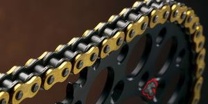 Renthal R3 Gold O-ring Chain, 520 x 120 Links, Premium O-ring motorcycle chain