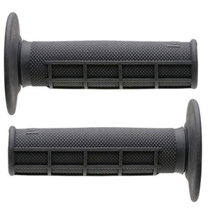 Renthal Original 50/50 Medium Compound Grips, Half Diamond, Half Waffle, Grey, G087