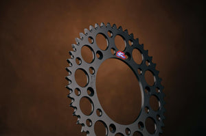 Renthal Ultralight and Grooved Rear Sprocket, Black, 51 tooth, Yamaha YZ, WR,