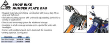 SKINZ Snow Bike Number Plate Bag For Bikes Without Headlights