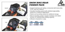 SPG Snow Bike Rear Fender Pack, Large Rear Fender Bag For Dirt Bikes