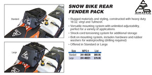 SPG Snow Bike Rear Fender Pack, Standard Size Rear Fender Bag For Dirt Bikes