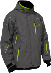 Men's Castle Surge Winter Jacket - Dark Gray, Large