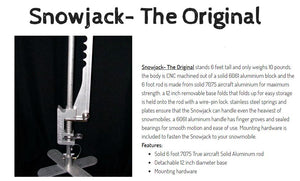 Snowjack- The Original, Snowmobile and Snow Bike Jack System