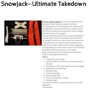 The Snowjack - The Ultimate Takedown, Collapsible Snowmobile and Snow Bike Jack System