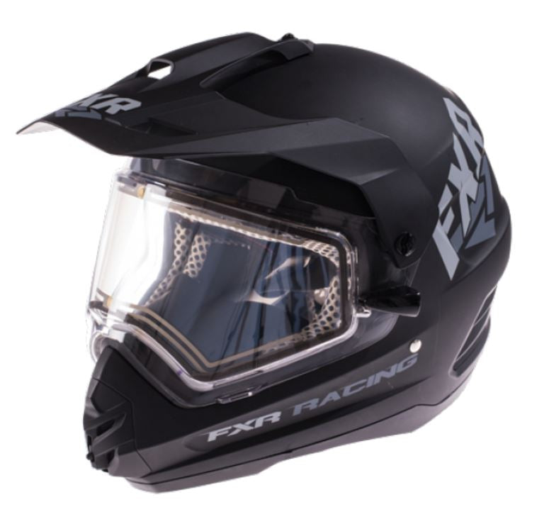 FXR Torque X Recoil Snowmobile Helmet, Black, Large, LG