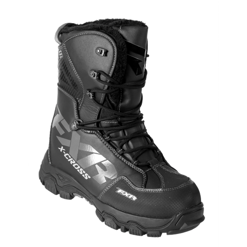 FXR X Cross Snowmobile Boots - Black Ops, Men's Size 8, Women's Size 10