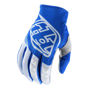 TLD GP MOTORCYCLE GLOVES, BLUE AND WHITE, LARGE, LG