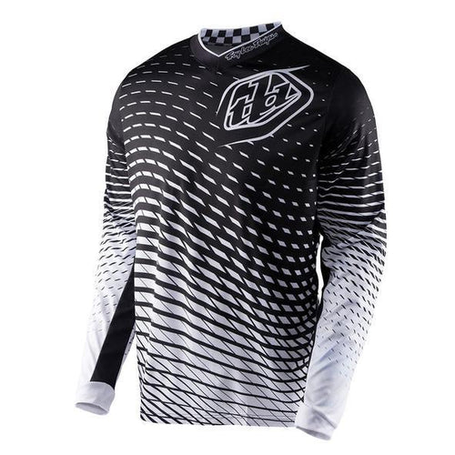 TLD GP Lightweight Jersey, Tremor, Black And White, Small, Sm,