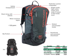 Ortovox Haute Route 32 Backpack - Black and Red