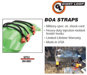 Giant Loop Rubber Boa Straps - Universal Bungee Straps For Dirt Bike Fenders