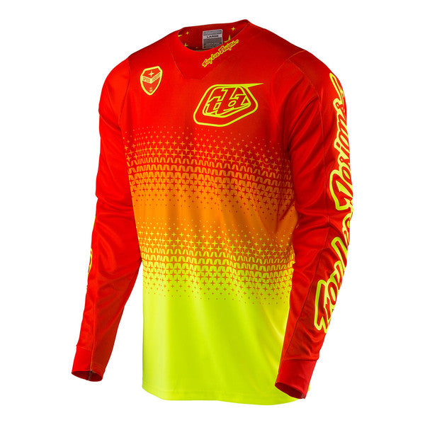 Troy Lee Designs SE Air Jersey - Starburst Red And Yellow, XXL, 2XL