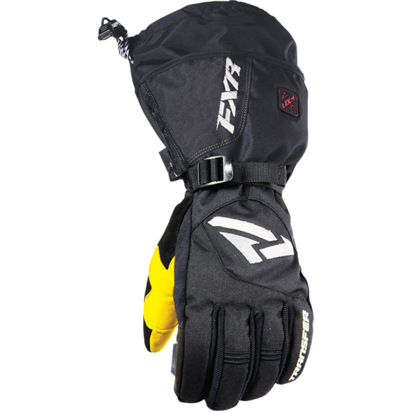 FXR Heated Transfer Snowmobile or Snow Bike Gloves - Black, 2XL, XXL