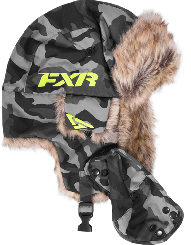 FXR Trapper Hat – Urban Camo, Large to XL Snowmobile Hat, Beanie - Sold Out