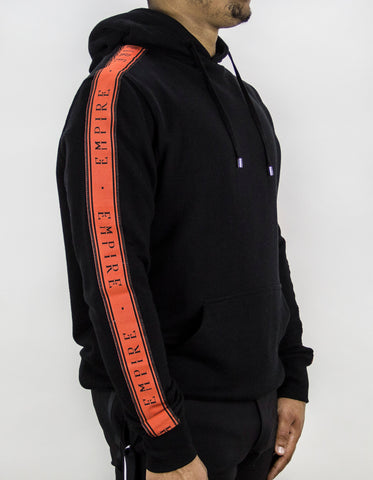 EMPIRE Logo Stripe Track Hoodie - Black / Orange
