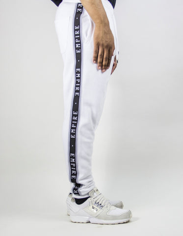 EMPIRE Logo Stripe Trackpants - White / Black (LIMITED EDITION)