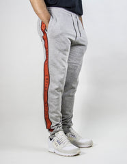 EMPIRE Logo Stripe Trackpants - Grey / Orange