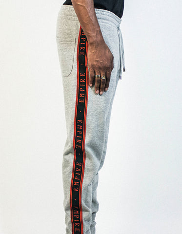 Logo Stripe Trackpants - Grey / Black / Red