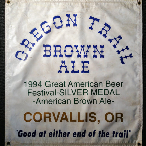 Oregon Trail Brown Ale OBF Vintage Tent Banner
