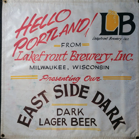 Lakefront Brewery OBF Vintage Tent Banner