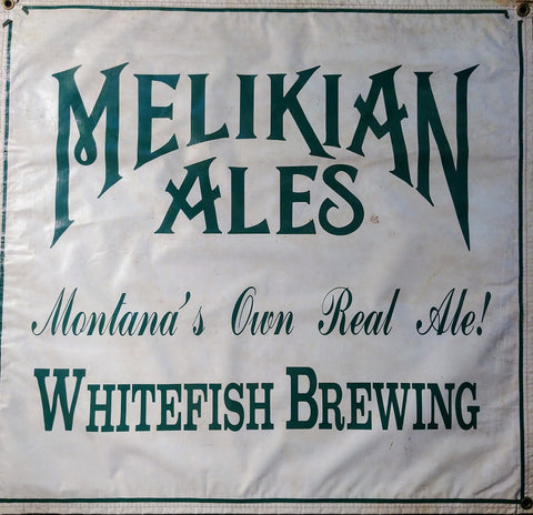 Whitefish Brewing Melikian Ales OBF Vintage Tent Banner
