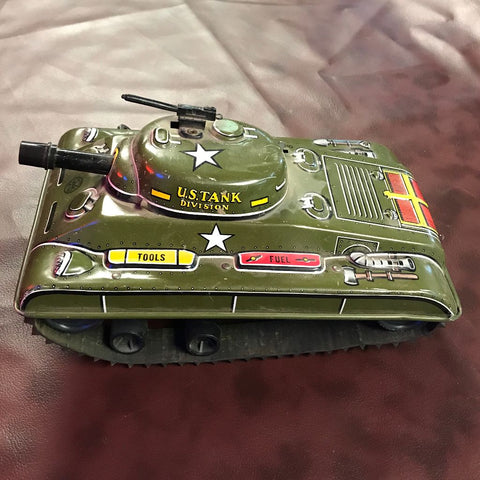 Vintage Toy Windup Tank