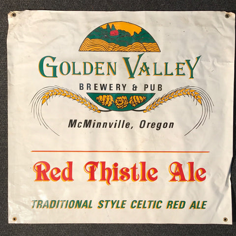 Golden Valley Brewing Pub OBF Vintage Tent Banner