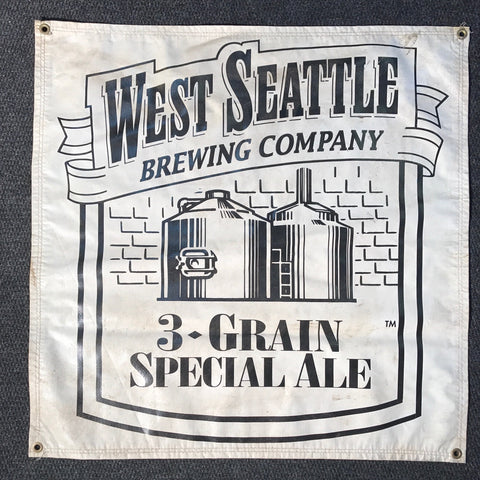 West Seattle Brewing Company OBF Vintage Tent Banner